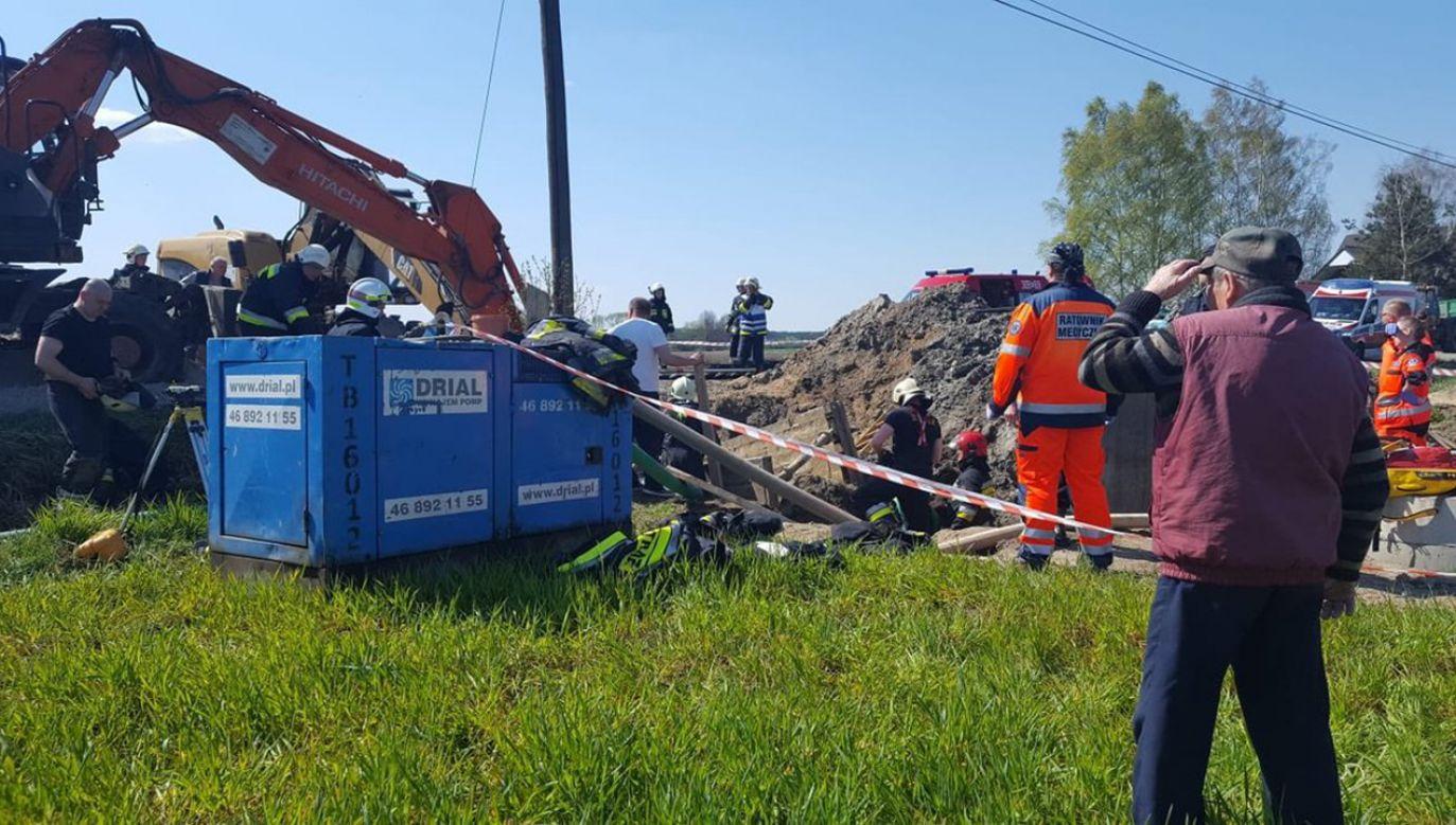 Według nieoficjalnych informacji obydwaj poszkodowani to Ukraińcy (fot. TVP3 Opole)