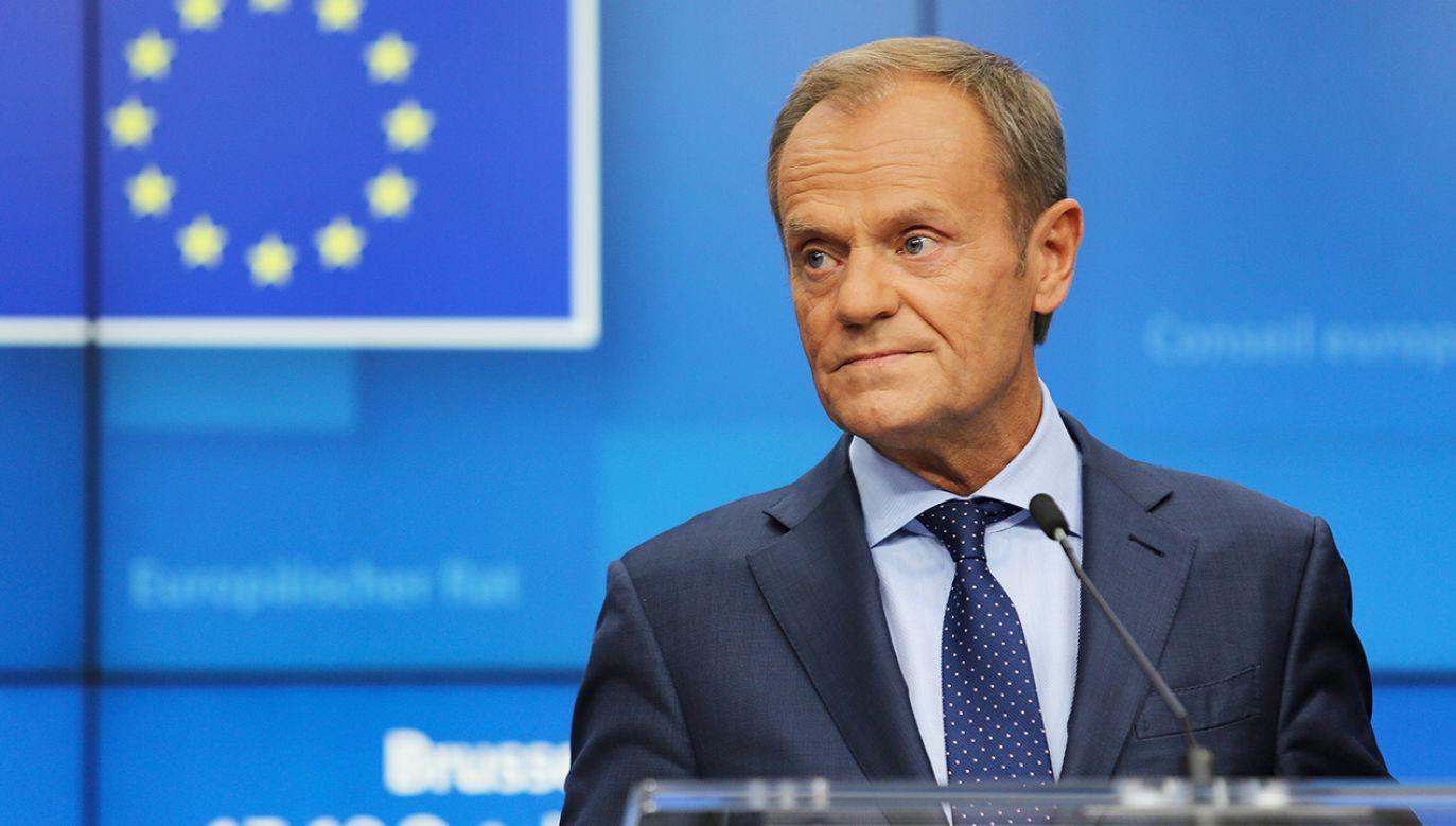 1 grudnia Tusk kończy kadencję szefa RE (fot. Nicolas Economou/NurPhoto via Getty Images)