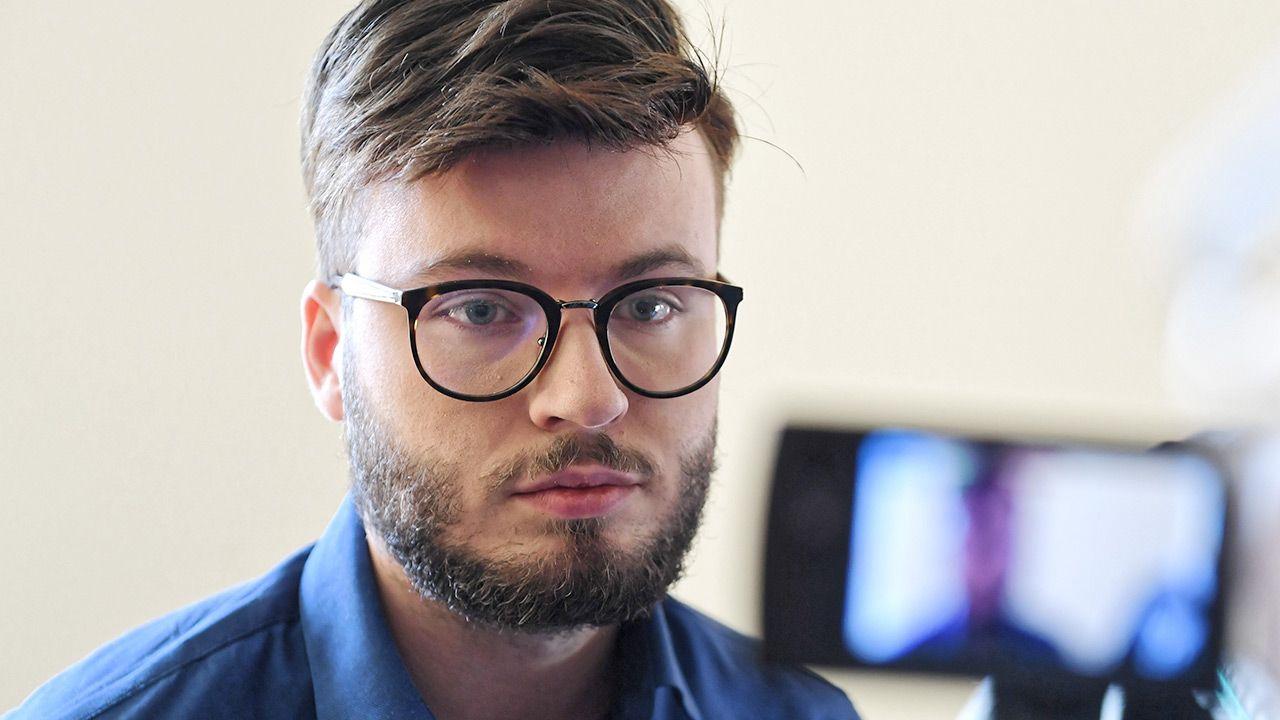 Bart Staszewski domaga się dymisji Łukasza Jasiny (fot. PAP/Wojciech Pacewicz)