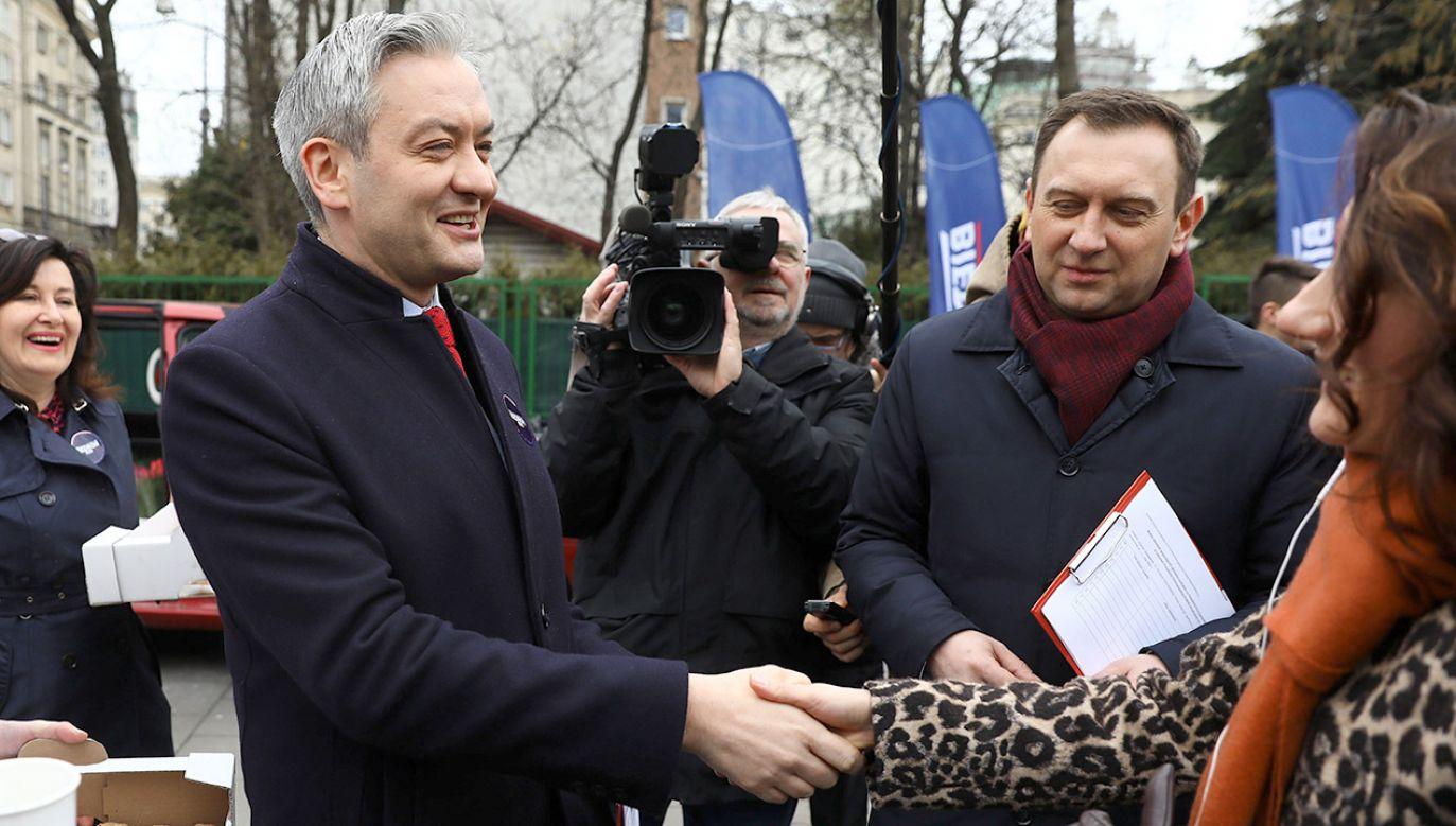 Biedroń uważa, że jest jedynym kandydatem, który chce wprowadzić zmiany (fot. PAP/Rafał Guz)