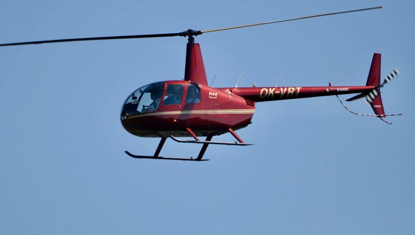 Do rzeki wpadł śmigłowiec Robinson R44 (fot. arch.PAP/CTK, zdjęcie ilustracyjne)