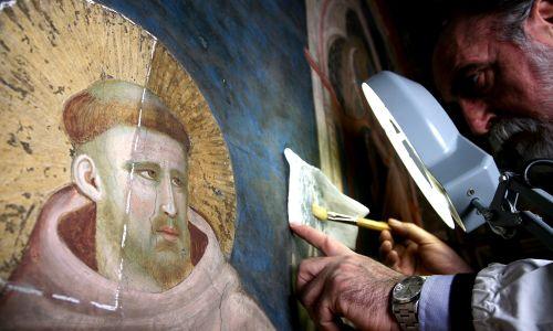 Św. Franciszek pędzla Giotta z bazyliki w Asyżu. Fot. Franco Origlia/CI Getty Images Entertainment