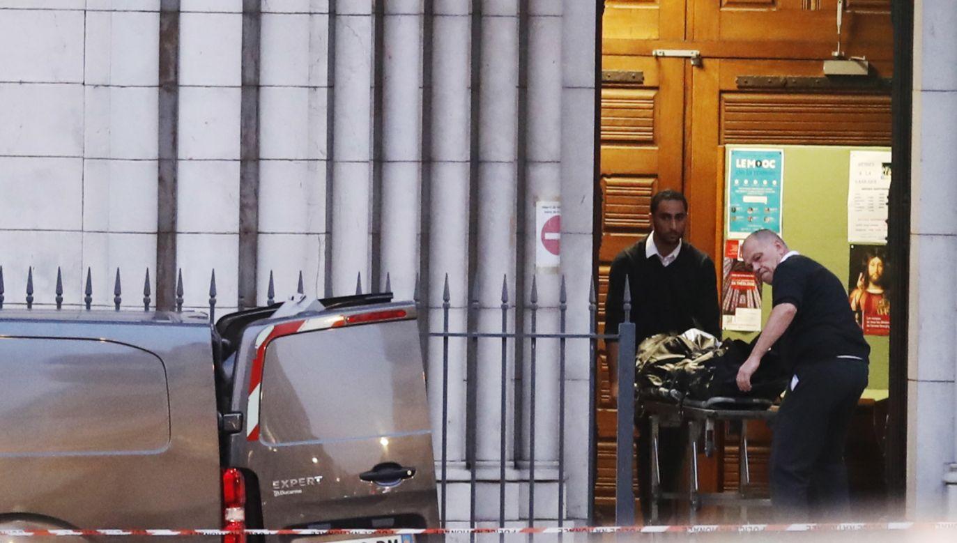To reakcja po ataku terrorystycznym w bazylice w Nicei (fot. PAP)