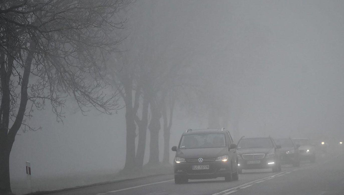 Policja przypomina o konsekwencjach zmieniających się warunków na drodze (fot. PAP/Wojtek Jargiło)
