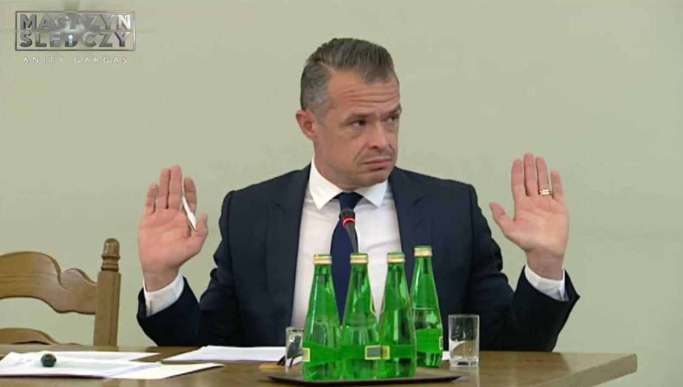 Sławomir Nowak przebywa teraz w areszcie, gdzie oczekuje na proces (fot. TVP)