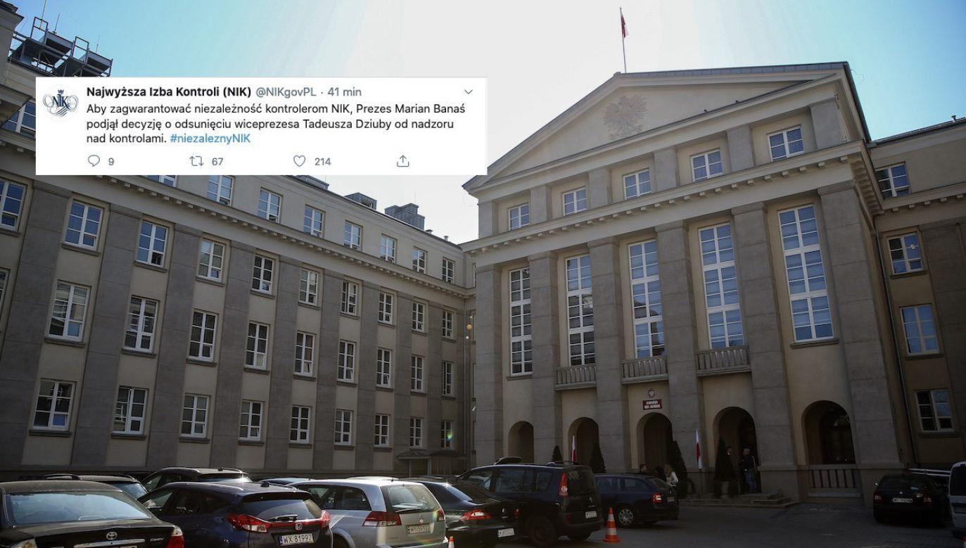 O decyzji poinformowano na Twitterze (fot. arch.PAP/Rafał Guz, tt/NIK)