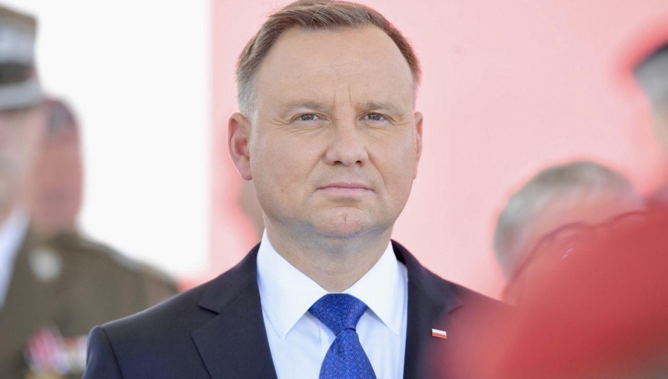 Prezydent Andrzej Duda jest w kontakcie z ambasadorem RP w Mińsku (fot. PAP/Radek Pietruszka)