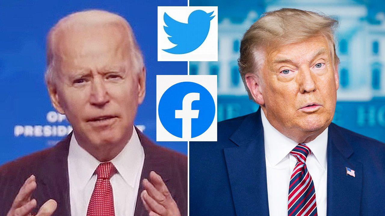 Platformy społecznościowe angażują się w proces wyborczy w Stanach Zjednoczonych (fot. PAP/EPA/OFFICE OF THE PRESIDENT ELECT/HANDOUT; PAP/EPA/JIM LO SCALZO / POOL)