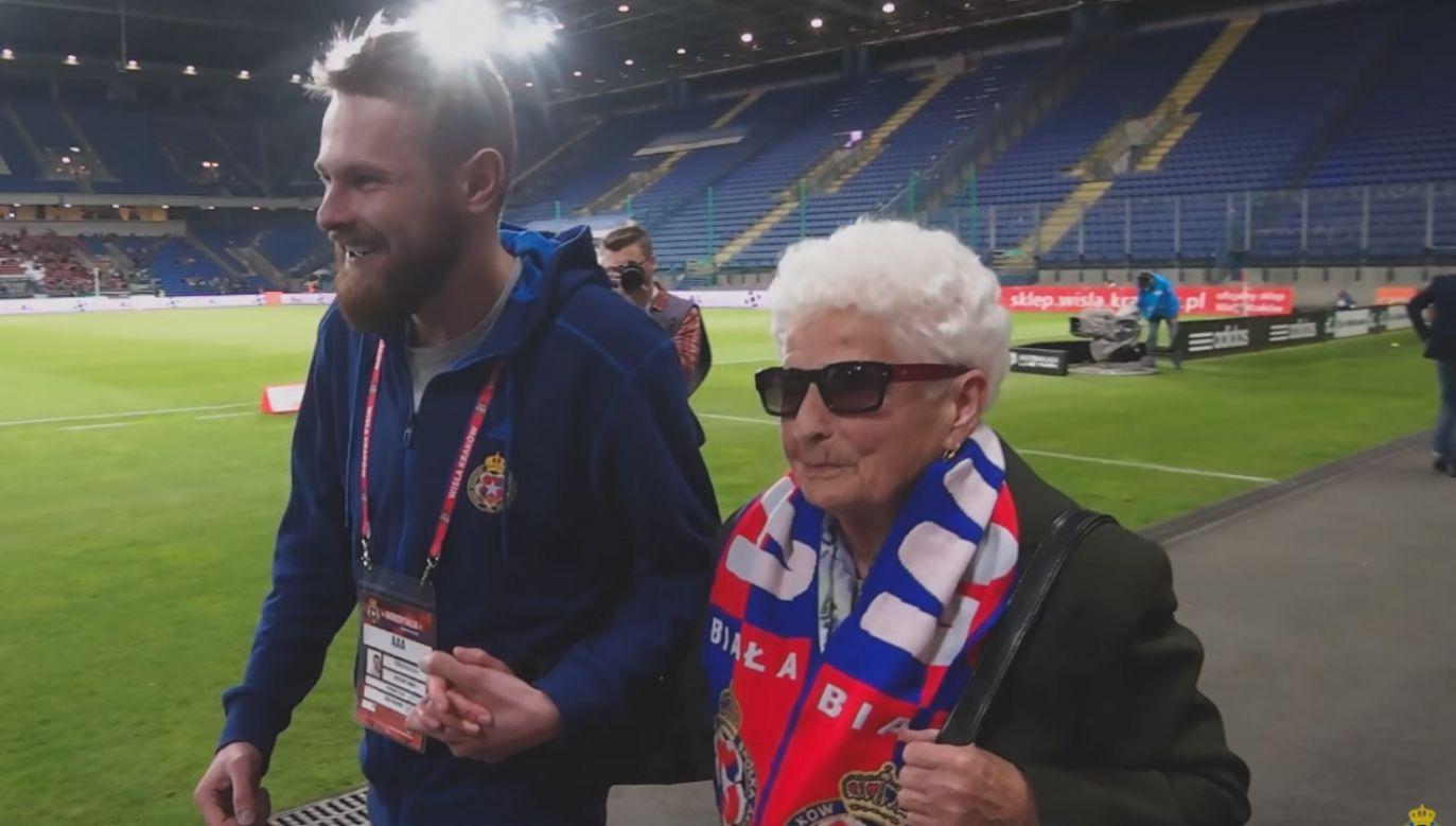 Julia Kmiecik zmarła  w wieku 91 lat (fot. YT/Wisła Kraków)