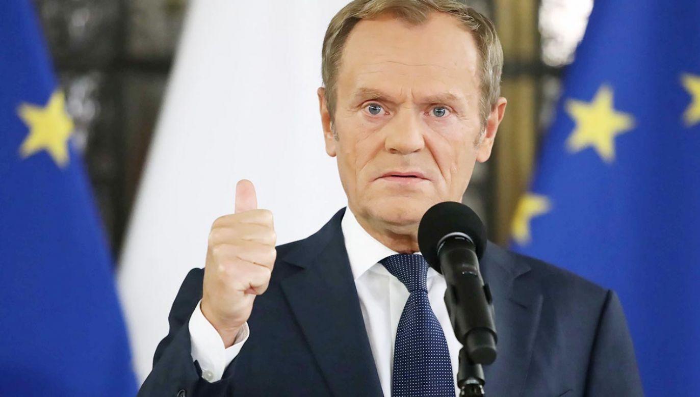 Szef PO Donald Tusk (fot. PAP/Tomasz Gzell)