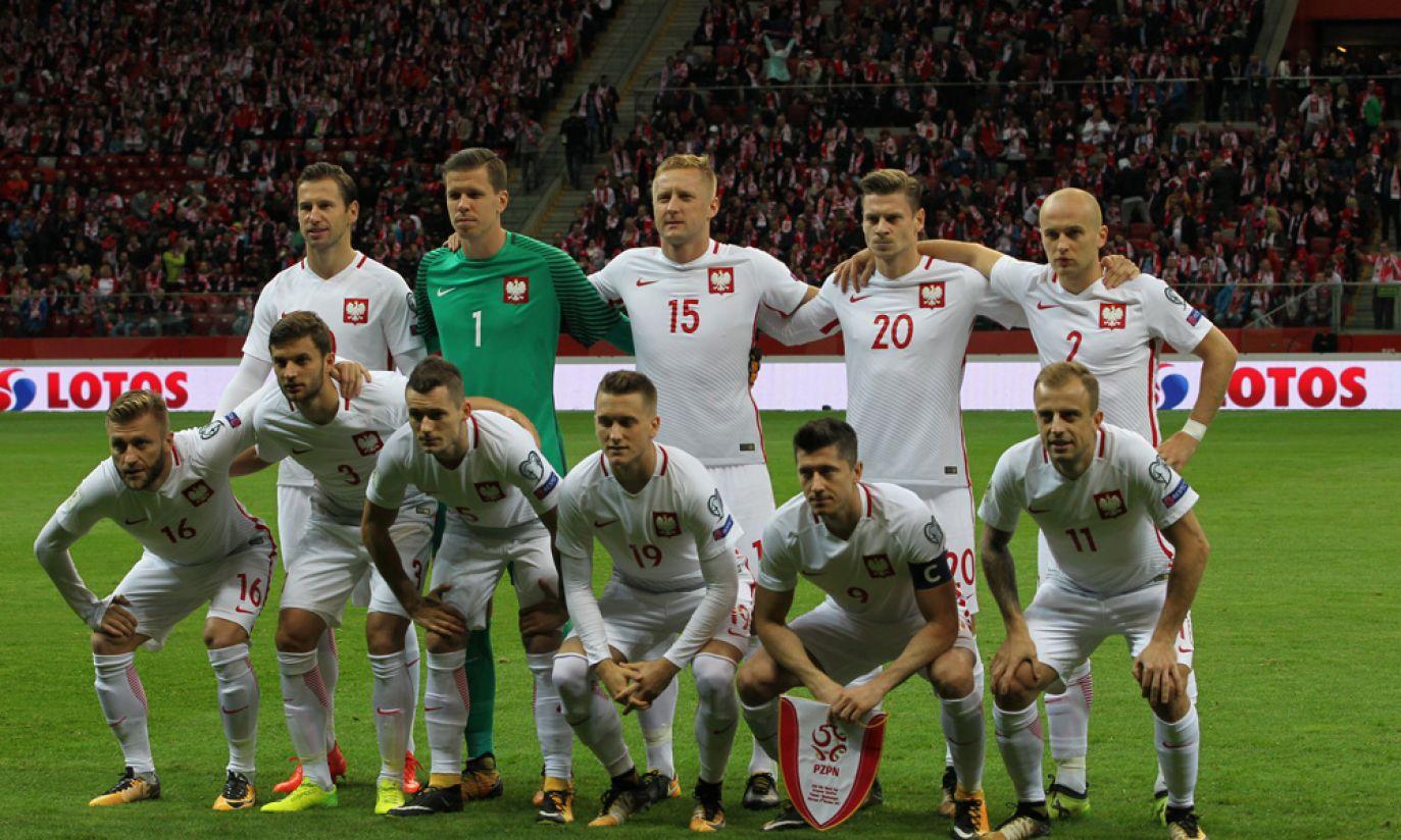 Polska reprezentacja tuż przed meczem (fot. Cezary Korycki)