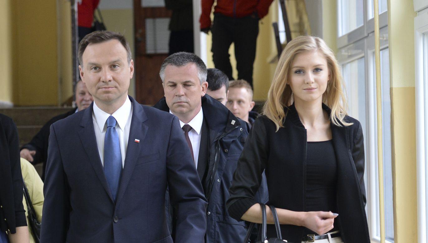 Prezydent Andrzej Duda z córką Kingą Dudą (fot. Artur Widak/ Getty Images)