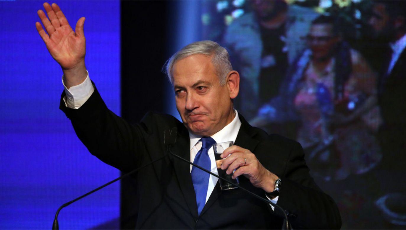 Benjamin Netanjahu może stracić władzę (fot. PAP/EPA/ABIR SULTAN)
