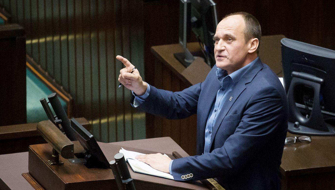 Lider Kukiz'15-Demokracja Bezpośrednia Paweł Kukiz (fot. Mateusz Wlodarczyk/NurPhoto via Getty Images)