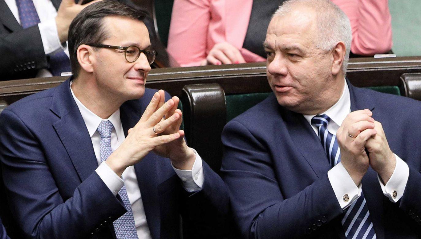 Premier wskazał, że dochody z podatków znacznie wzrosły (fot. PAP/Paweł Supernak)
