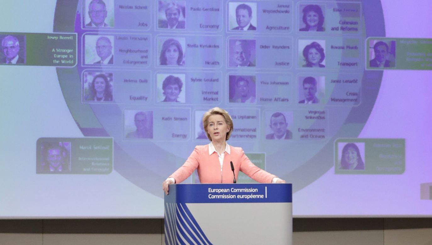 W czwartek von der Leyen ma się spotkać z kierownictwem Parlamentu Europejskiego (fot. PAP/EPA/OLIVIER HOSLET)