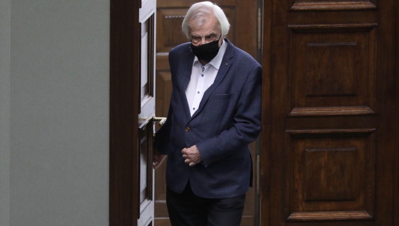 Wicemarszałek Sejmu Ryszard Terlecki ocenia, że jedynym celem opozycji jest blokowanie prac rządu (fot. PAP/Leszek Szymański)