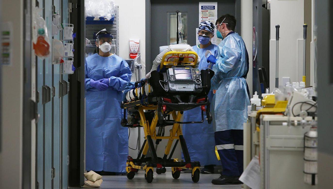 W ciągu tygodnia na świecie umierało średnio 12 tys. zakażonych (fot. Lisa Maree Williams/Getty Images)