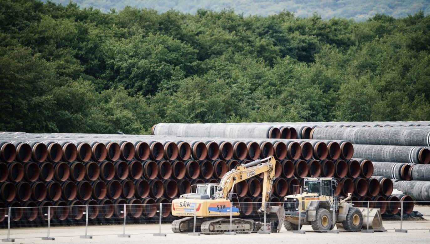 Gazociąg Nord Stream 2 jest gotowy w 94 proc. (fot. PAP/EPA/CLEMENS BILAN)