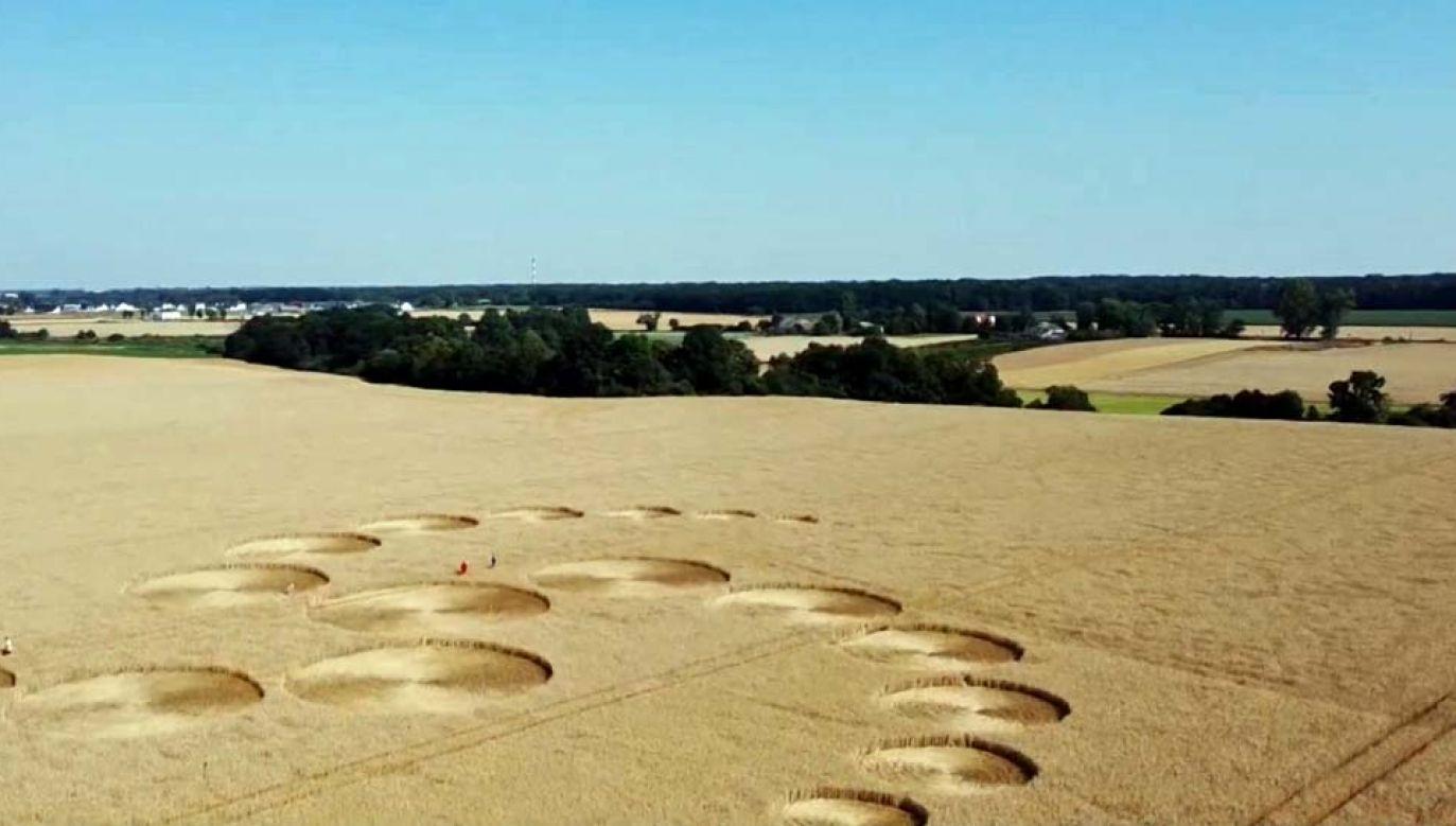 Dzieło dobrze widać z powietrza (fot. TVP Info)