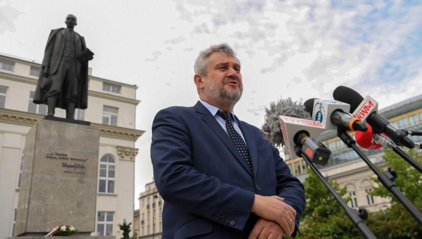 Min. Jan Krzysztof Ardanowski złoży wieniec przed pomnikiem Wincentego Witosa w Warszawie (fot. PAP/Piotr Nowak)