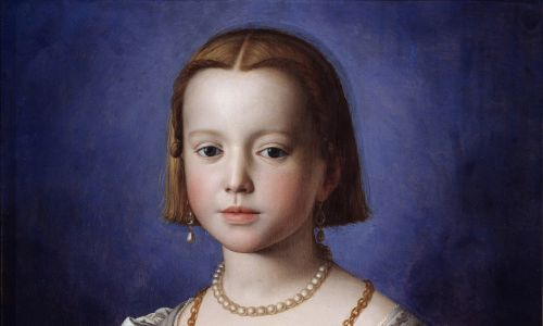 Wystrojona jedenastoletnia Maria Medycejska na portrecie Agnolo Bronzino (ok.1542). Fot.  Leemage/Corbis via Getty Images