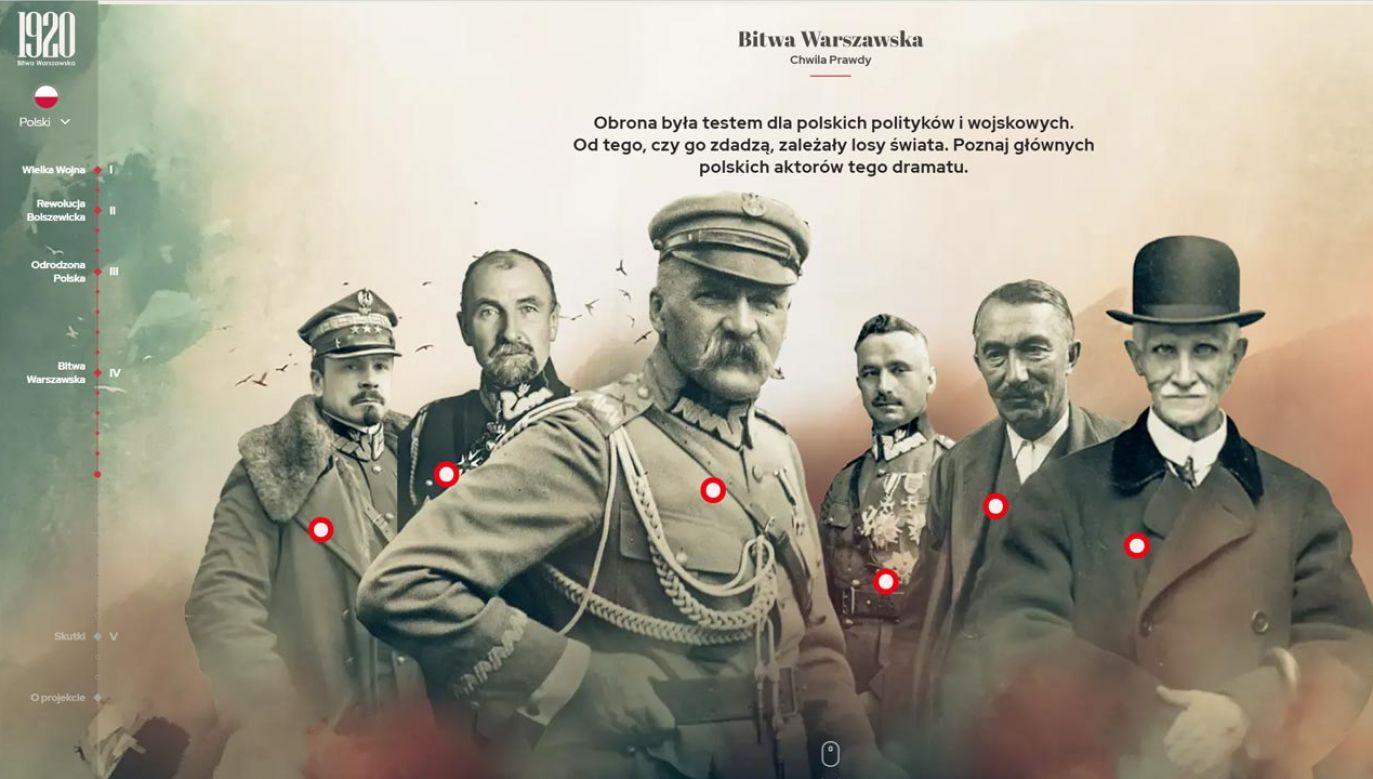 """Serwis specjalny """"Bitwa Warszawska 1920"""" (fot. bitwa1920.gov.pl)"""