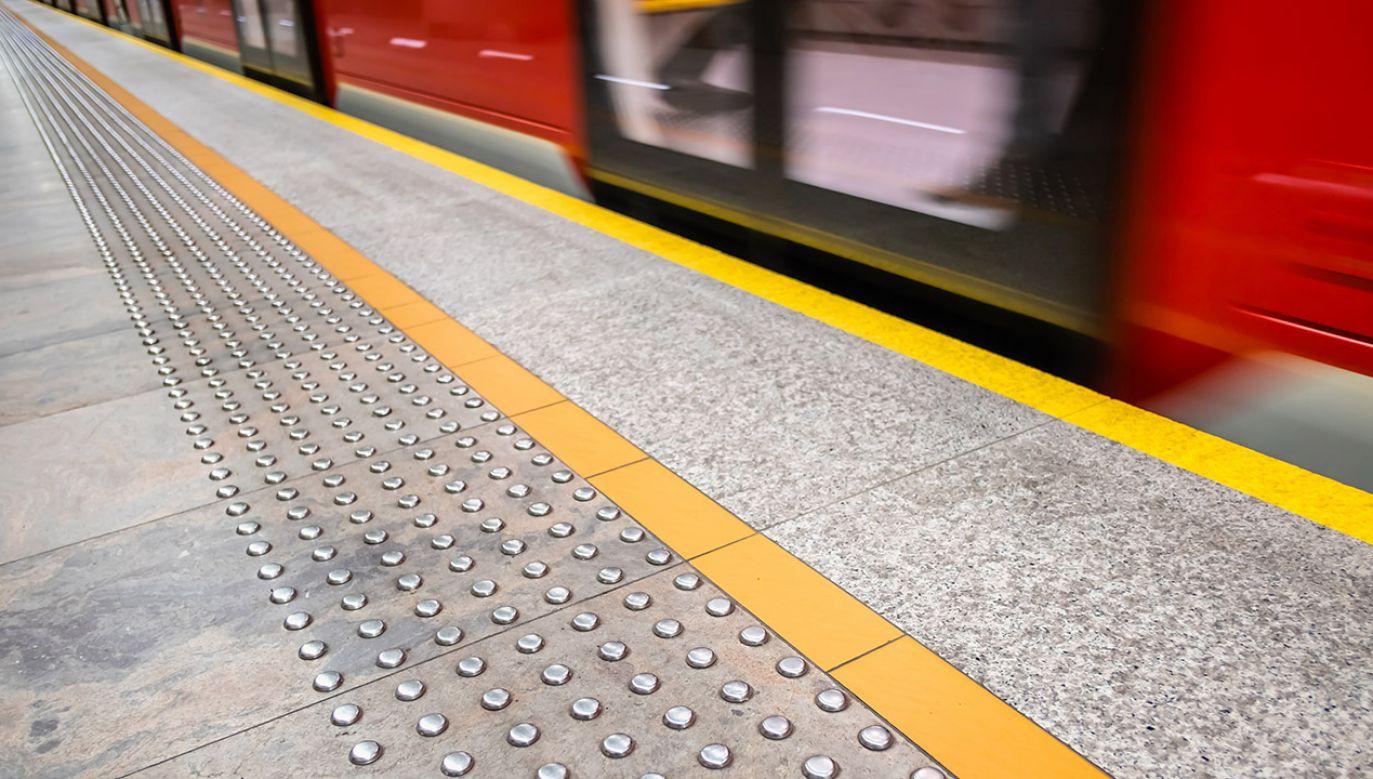 Skład jadący ze stacji Ursynów w kierunku Centrum zepsuł się na stacji Wilanowska (fot. Shutterstock/Robert Podlaski)