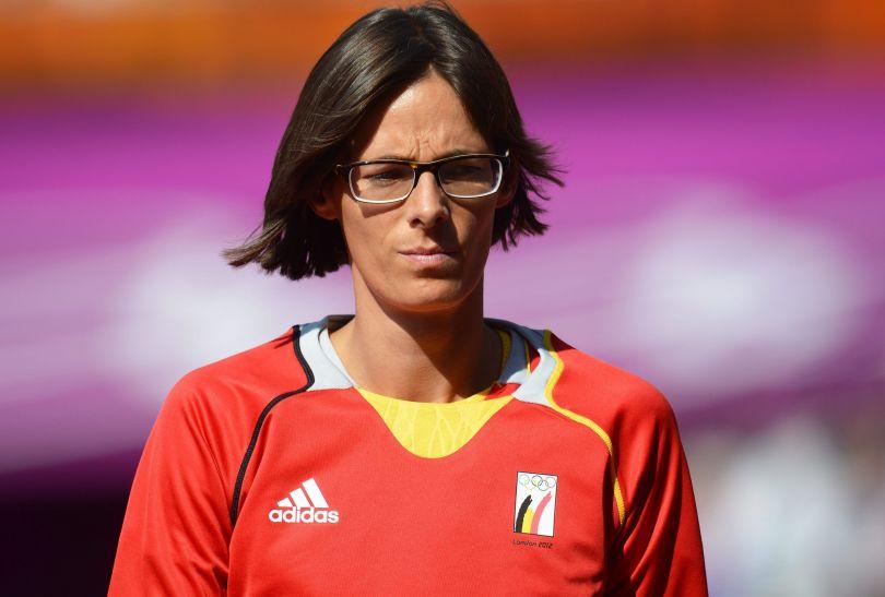 Belgijka Tia Hellebaut awansowała do finału skoku wzwyż (fot. PAP/EPA)