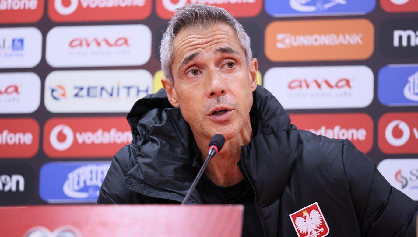 Paulo Sousa podał skład na mecz z Albanią (fot. PAP/Leszek Szymański)