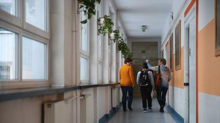 Uczniowie Szkoły Podstawowej (fot. PAP/Łukasz Gągulski)
