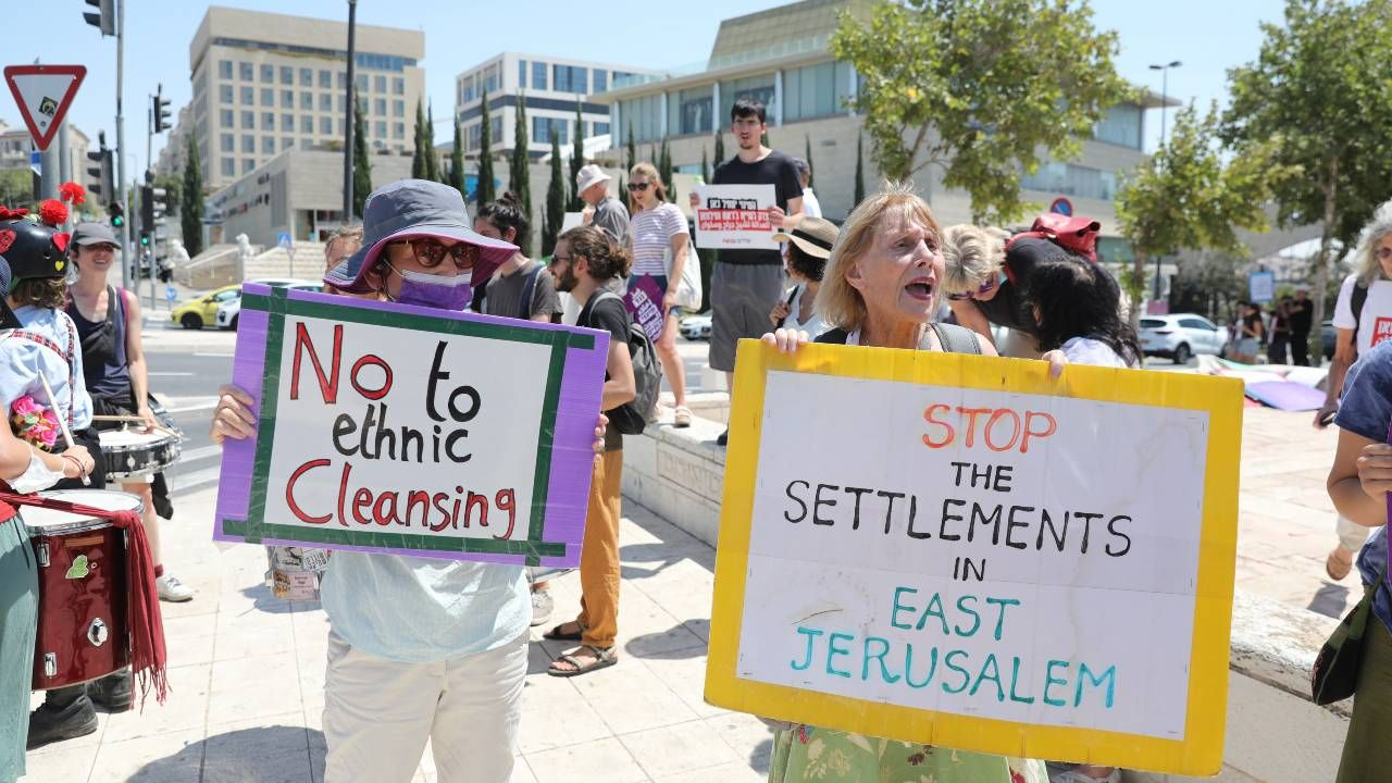 Działania Izraela w sprawie Palestyńczyków wywołują protesty (fot. PAP/EPA/ABIR SULTAN)