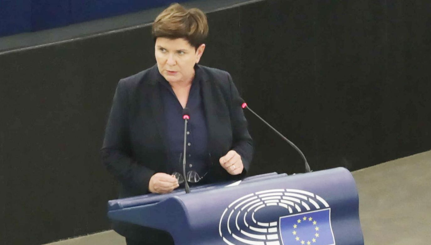 Beata Szydło w Parlamencie Europejskim (fot. PAP/Albert Zawada)