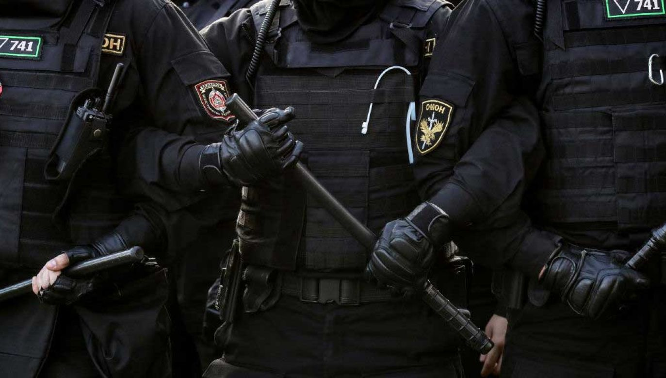 Na nagraniu słychać m.in. naczelnika mińskiego OMON-u (fot. Valery Sharifulin\TASS via Getty Images)
