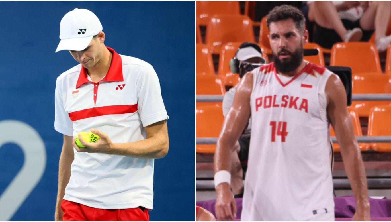 Hubert Hurkacz (L) and the Polish 3x3 basketball player, Paweł Pawłowski (R). Photo: PAP/Leszek Szymański