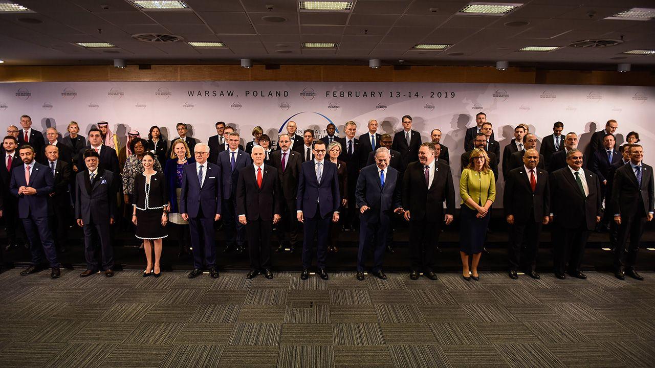 W organizowanym przez Polskę i Stany Zjednoczone spotkaniu wzięli udział przedstawiciele 62 krajów (fot. REUTERS/Kacper Pempel)