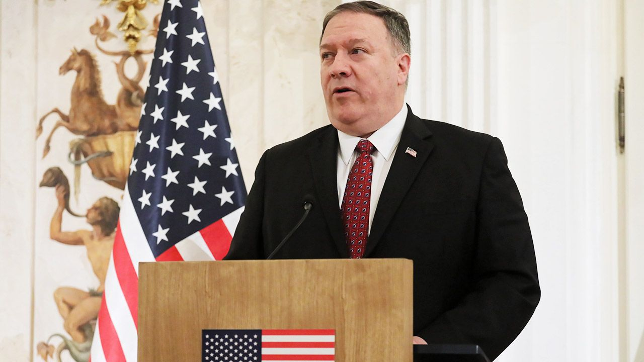 """""""Każdy kraj będzie musiał dokonać w tej sprawie własnego wyboru"""", powtórzył sekretarz stanu USA (fot. PAP/Paweł Supernak)"""
