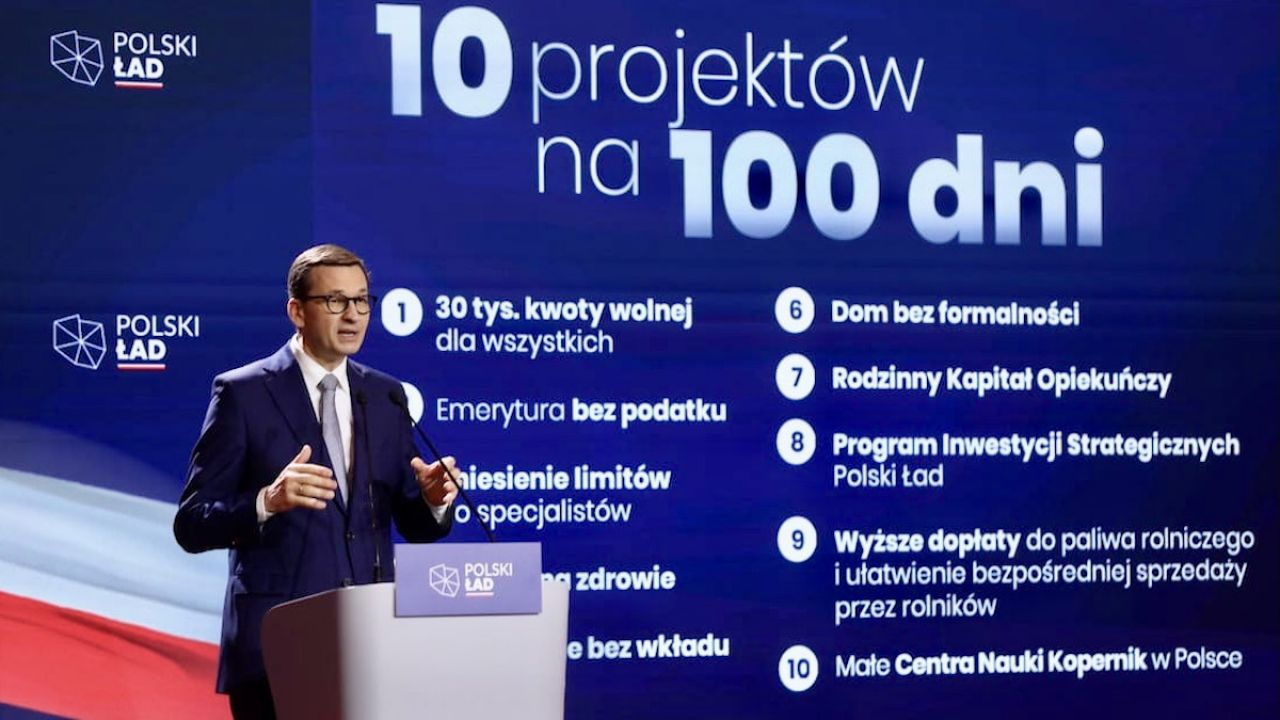 Polski Ład – te projekty trafią do Sejmu w ciągu 100 dni. Konferencja premiera Mateusza Morawieckiego - tvp.info