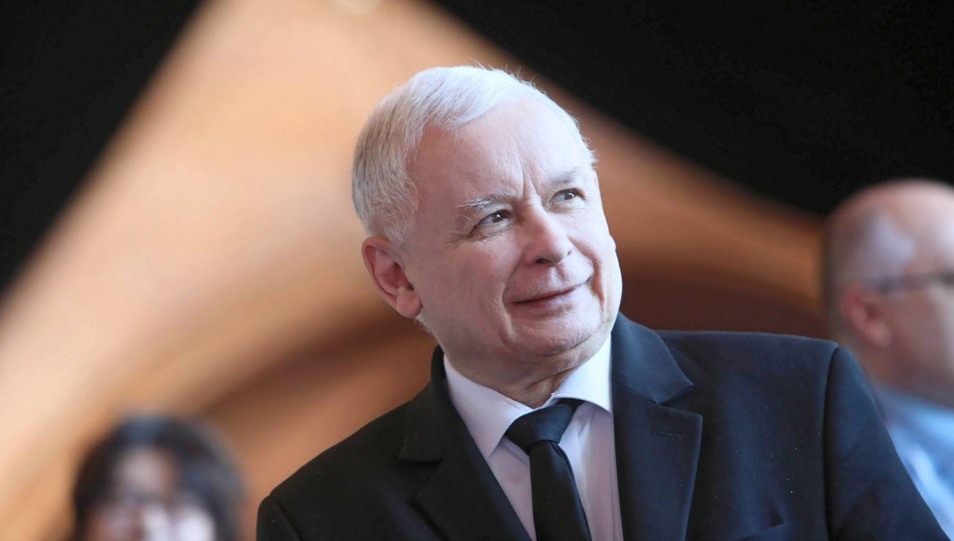 Prezesowi PiS ufa 35,5 proc. badanych (fot. PAP/Leszek Szymański)