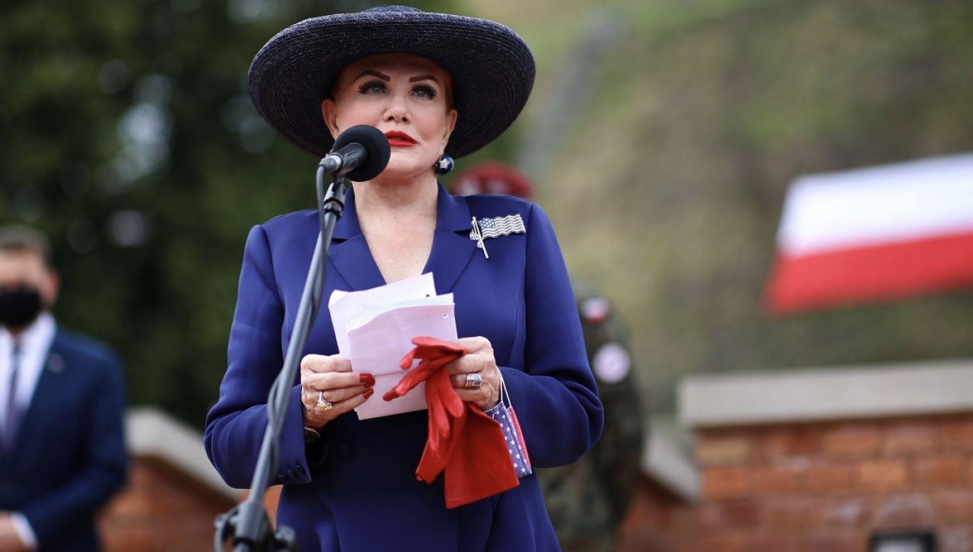 Georgette Mosbacher brała udział w uroczystościach zaprzysiężenia prezydenta Andrzeja Dudy (fot. PAP/Łukasz Gągulski)