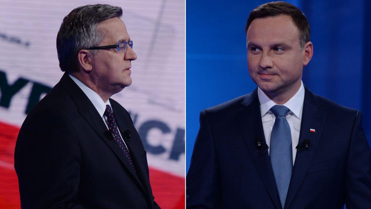 Bronisław Komorowski i Andrzej Duda (fot. TVP/Jan Bogacz)