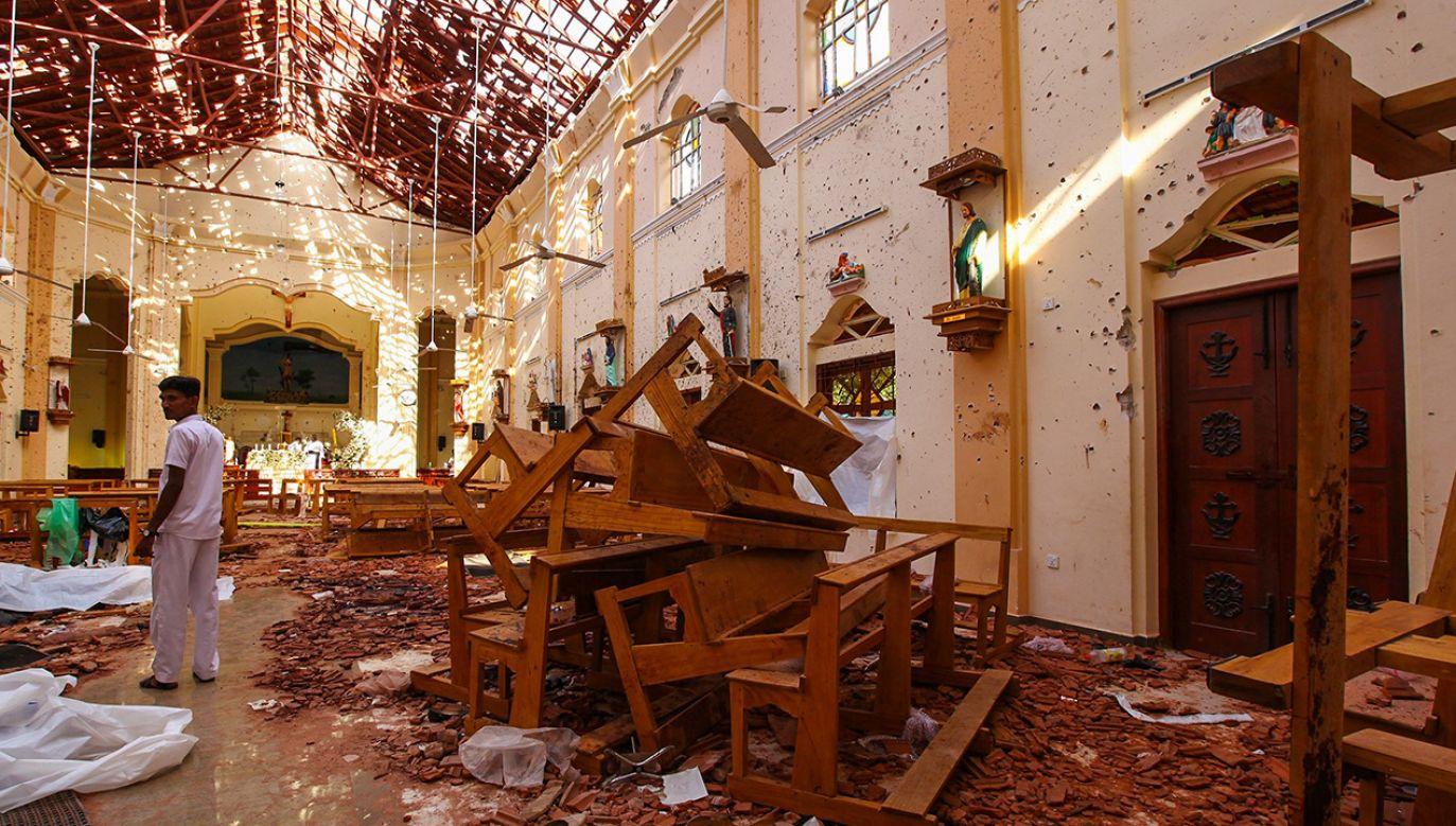 Kościół św. Sebastiana na Sri Lance, gdzie w niedzielę wielkanocna dokonano zamachu bombowego (fot. Chamila Karunarathne/Anadolu Agency/Getty Images)