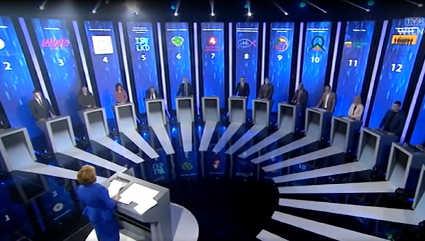 Pierwsza debata w TVP Wilno zebrała wiele pozytywnych opinii (fot. TVP Wilno)