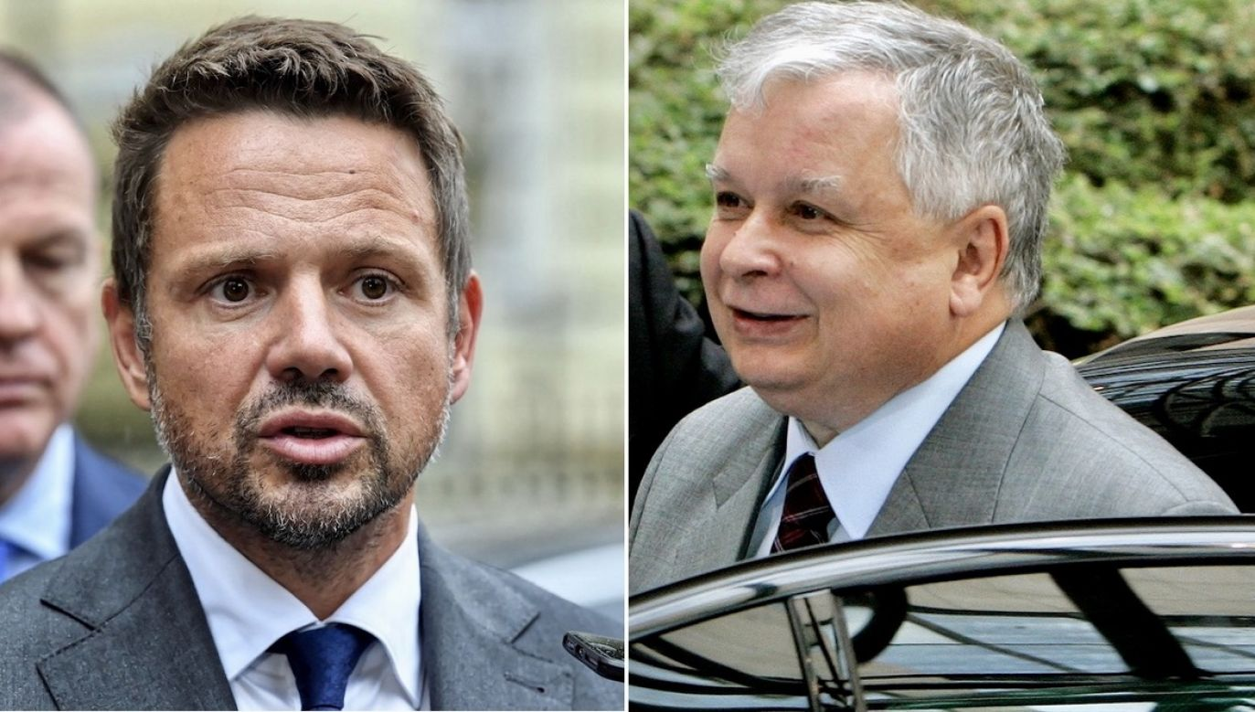Rafał Trzaskowski, Lech Kaczyński (fot. PAP/Radek Pietruszka, REUTERS/Thierry Roge)