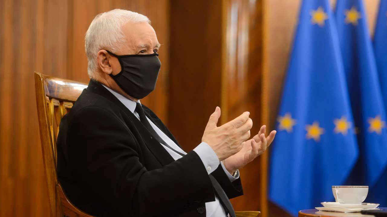 Jarosław Kaczyński o przyszłości Unii Europejskiej (fot. Gazeta Polska/ Zbyszek Kaczmarek via FORUM)
