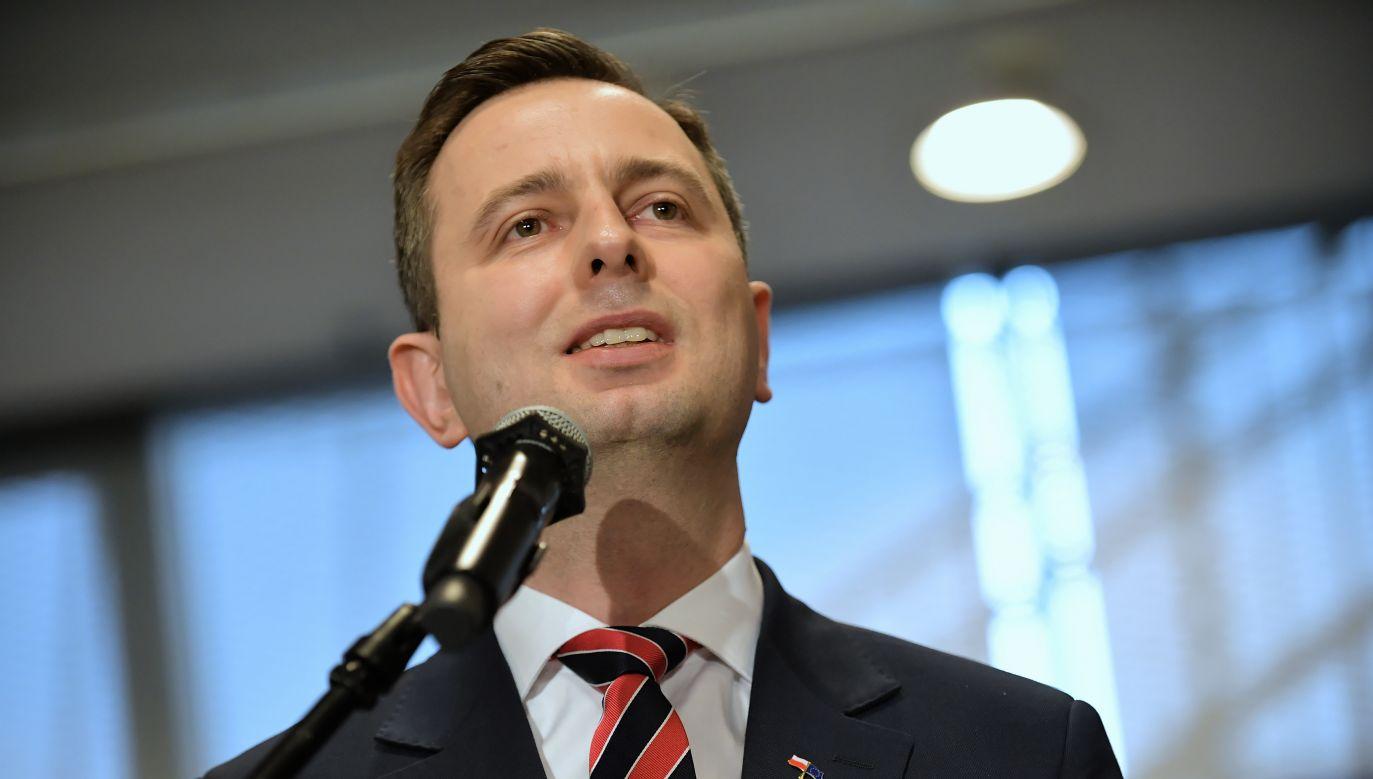Lider PSL, kandydat na prezydenta Władysław Kosiniak-Kamysz podczas debaty ekspertów (fot. PAP/Marcin Obara)