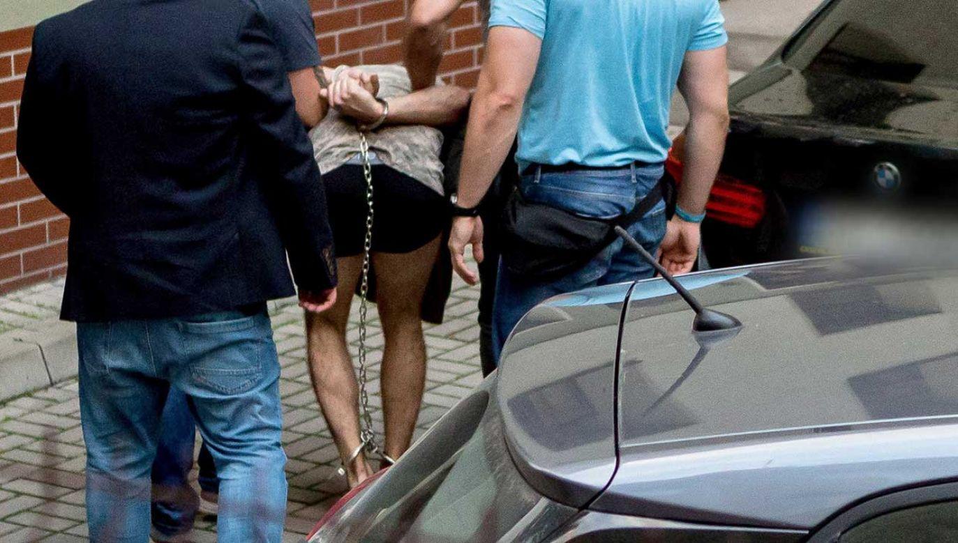 22-letni mężczyzna został zatrzymany w niedzielę po południu (fot. PAP/Maciej Kulczyński)