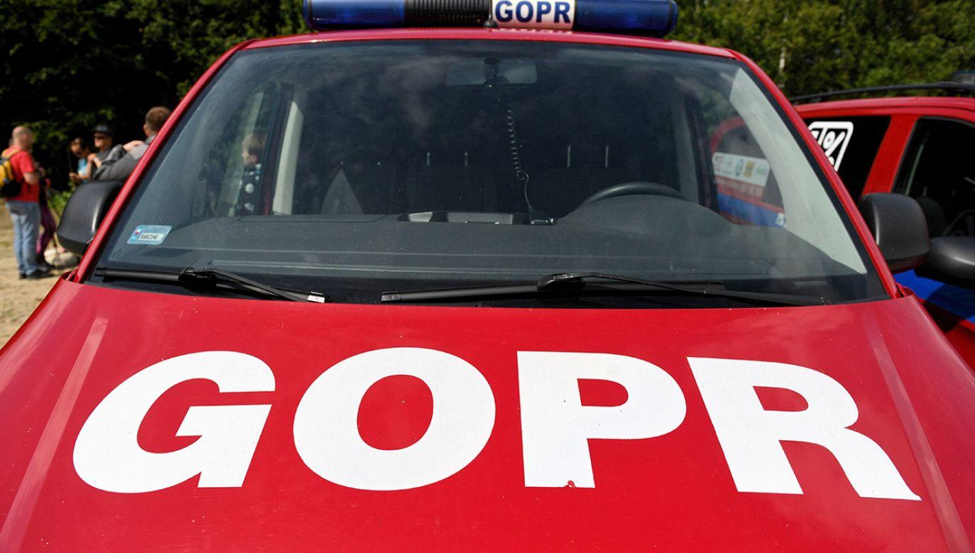 W akcję poszukiwawczą zaangażowanych było ponad 30 ratowników i policjantów (fot. arch. PAP/Darek Delmanowicz)