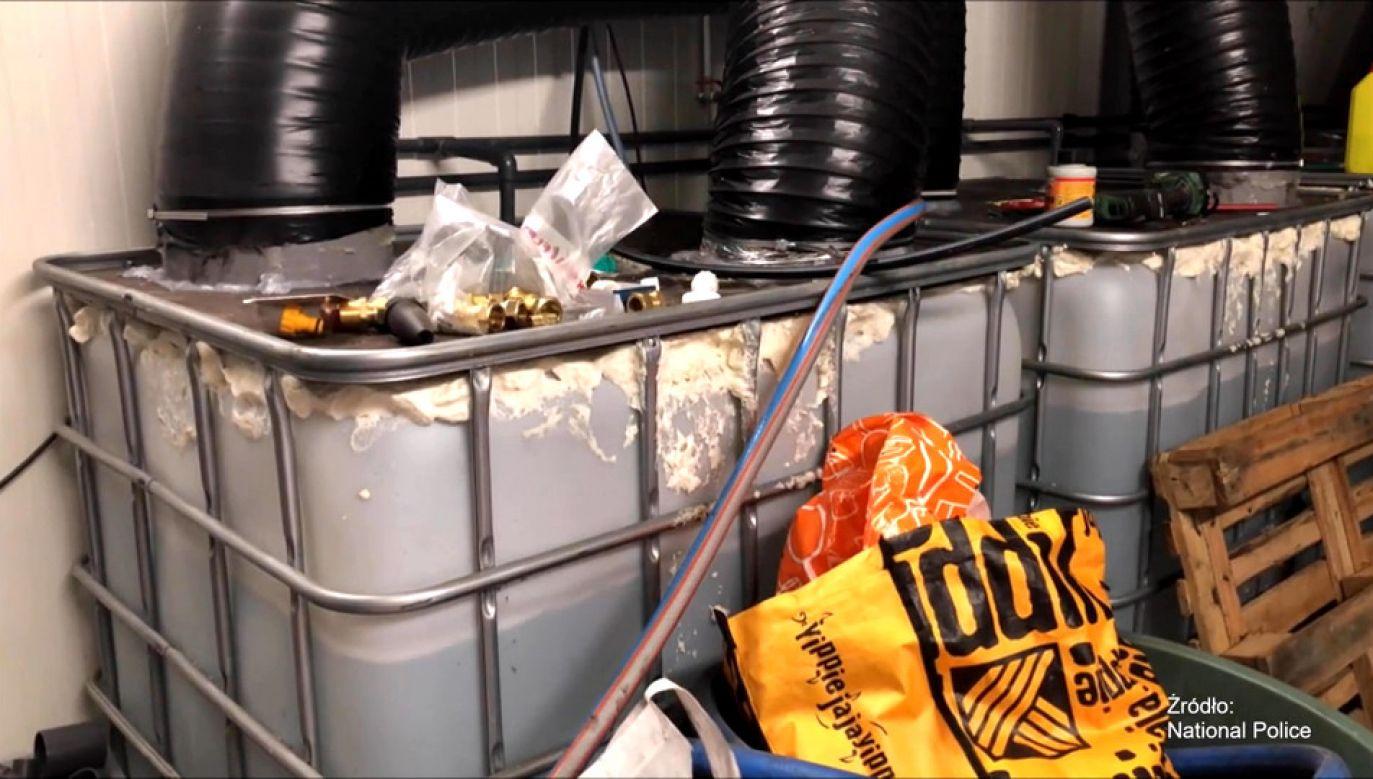 Holenderska policja przejęła 120 ton materiałów zawierających kokainę (fot. NEDERLANDSE OMROEP STICHTING/National Police)