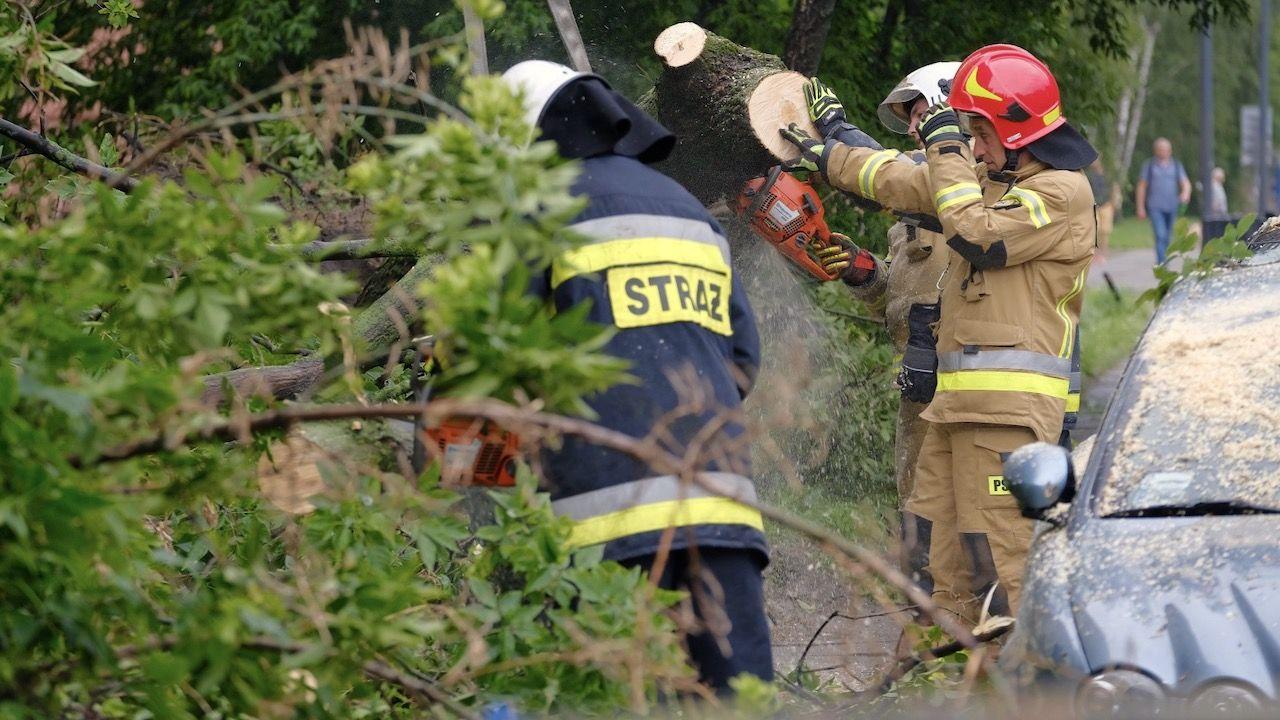 Potrzebnych było setki interwencji strażaków (fot. PAP/Mateusz Marek)